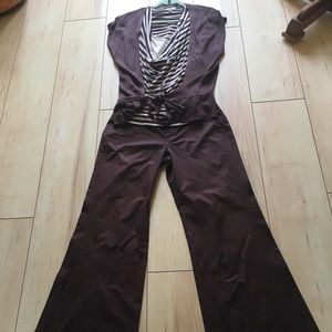 Cache 3 piece outfit sz 4 pants and size sm tops
